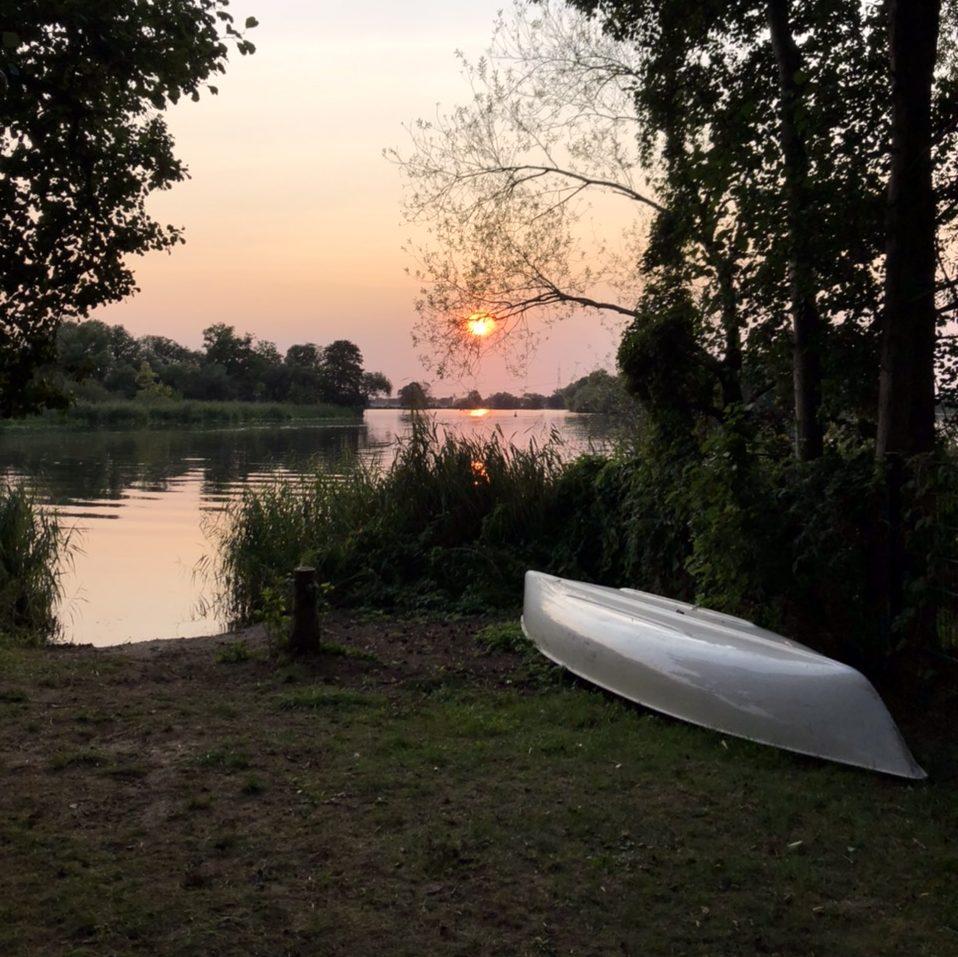 Sonnenuntergang an der Havel.